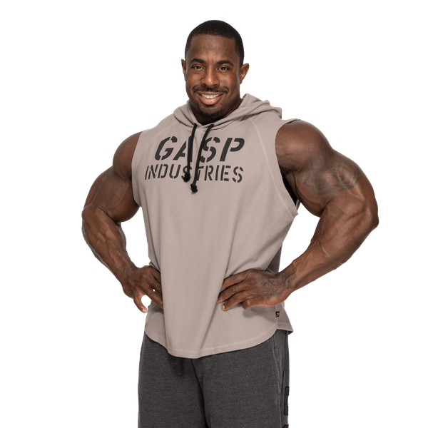 GASP Logo Hoodie Black Kapuzensweater Schwarz Bodybuilding Fitness Gym Wear
