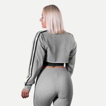 Thumbnail of Better Bodies Chrystie Cropped  Longsleeve - Light Grey Melange