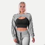Thumbnail of undefined Chrystie Cropped  Longsleeve - Light Grey Melange