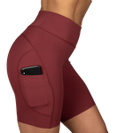 Thumbnail of Better Bodies Chrystie Shorts V2 - Sangria Red