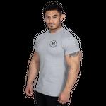 Thumbnail of Better Bodies Gym Tapered Tee - Light Grey Melange