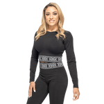 Thumbnail of Better Bodies Rib Seamless Long Sleeve - Black Melange