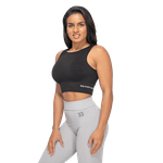 Thumbnail of Better Bodies Rib Seamless Top - Black Melange