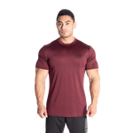 Thumbnail of Better Bodies Essex Stripe Tee - Maroon melange