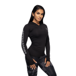 Thumbnail of Better Bodies Performance Long Sleeve Hood - Black/Grey
