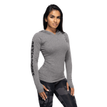 Thumbnail of Better Bodies Performance Long Sleeve Hood - Graphite Melange