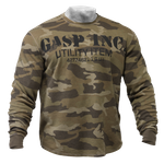 Thumbnail of GASP Thermal gym sweater - Green Camoprint