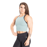 Thumbnail of Better Bodies Performance Crop Halter - Teal Green