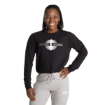 Thumbnail of Better Bodies Empire Cropped Printed Crew - Black