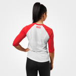Thumbnail of Better Bodies Womens Baseball Tee - Scarlet Red