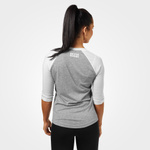 Thumbnail of Better Bodies Womens Baseball Tee - Grey Melange