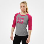 Thumbnail of Better Bodies Womens Baseball Tee - Greymel/pink