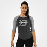 Thumbnail of Better Bodies Womens Baseball Tee - Anthracite Melange