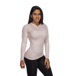 Thumbnail of Better Bodies Performance Long Sleeve Hood - Pink Melange