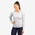Thumbnail of Better Bodies Performance Long Sleeve Hood - Frost Grey