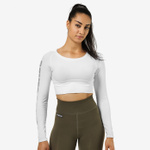 Thumbnail of Better Bodies Bowery Cropped Long Sleeve - White