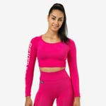 Thumbnail of Better Bodies Bowery Cropped Long Sleeve - Hot Pink