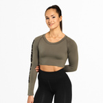 Thumbnail of Better Bodies Bowery Cropped Long Sleeve - Washed Green