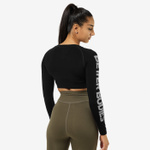 Thumbnail of Better Bodies Bowery Cropped Long Sleeve - Black