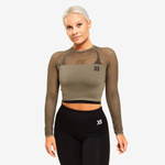 Thumbnail of Better Bodies Bronx Cropped Long Sleeve - Washed Green