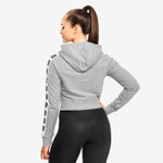 Thumbnail of Better Bodies Vesey Cropped Hood - Grey Melange
