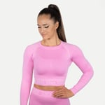 Thumbnail of undefined Rib Seamless Long Sleeve - Bubblegum Pink