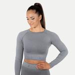 Thumbnail of Better Bodies Rib Seamless Long Sleeve - Grey Melange