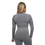 Thumbnail of Better Bodies Rib Seamless Long Sleeve - Grey Melange