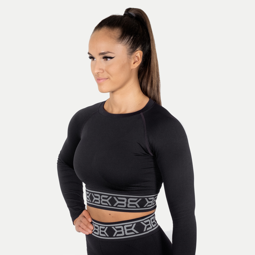 Small image of Rib Seamless Long Sleeve